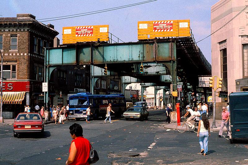 Queensboro Bridge Remaining support post...